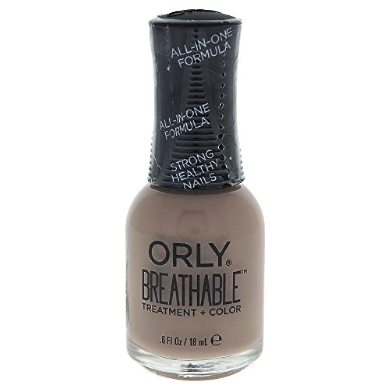 毎月ハンディ費やすOrly Breathable Treatment + Color Nail Lacquer - Down To Earth - 0.6oz / 18ml