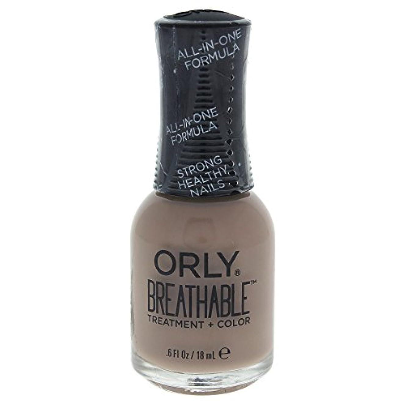 の前で用語集伝導Orly Breathable Treatment + Color Nail Lacquer - Down To Earth - 0.6oz / 18ml