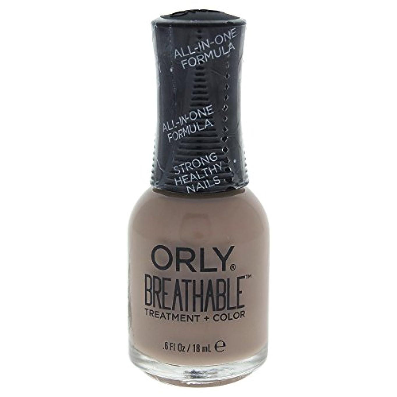 いじめっ子流体フルーティーOrly Breathable Treatment + Color Nail Lacquer - Down To Earth - 0.6oz / 18ml