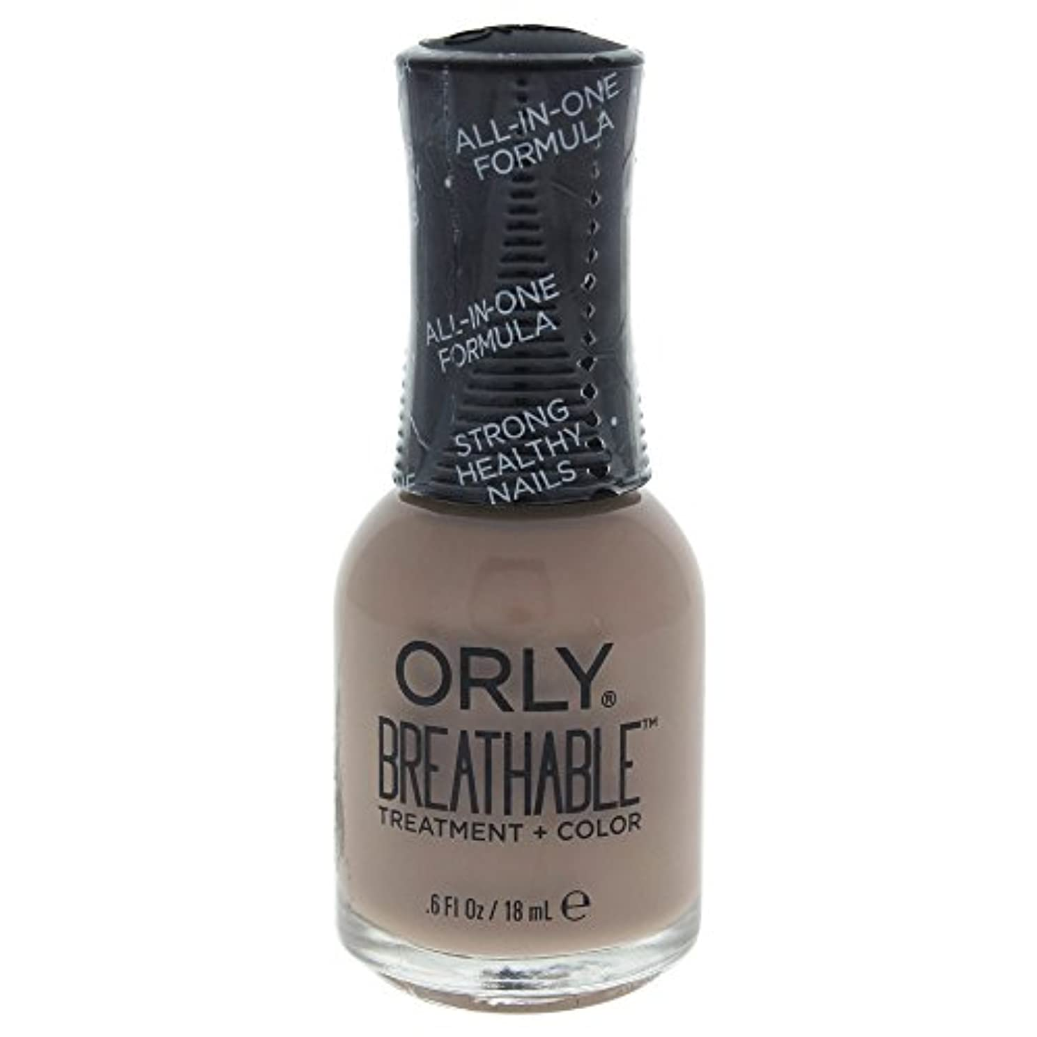 スチール首相頑丈Orly Breathable Treatment + Color Nail Lacquer - Down To Earth - 0.6oz / 18ml