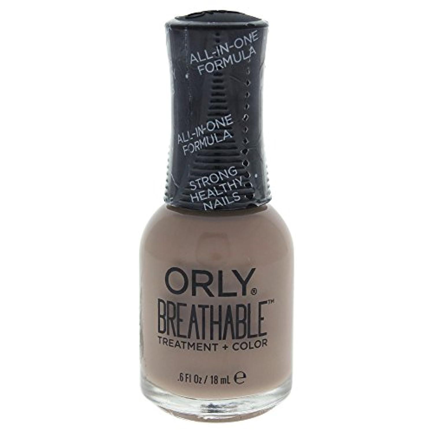 表面的なリップネコOrly Breathable Treatment + Color Nail Lacquer - Down To Earth - 0.6oz / 18ml