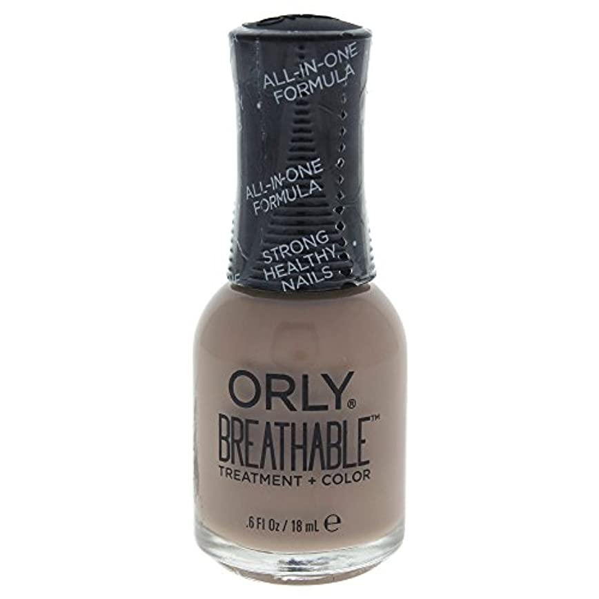 拳ミリメートル協力するOrly Breathable Treatment + Color Nail Lacquer - Down To Earth - 0.6oz / 18ml