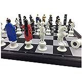 ZEYUGTIW カートゥーンキャラクター マグネット インターナショナルチェス ポータブル チェス 教育 トレーニング ギフト
