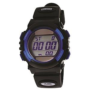 [クレファー]CREPHA 腕時計 デジタル ソーラー ウレタンベルト 5気圧 防水 ブルー TE-D052-BL メンズ