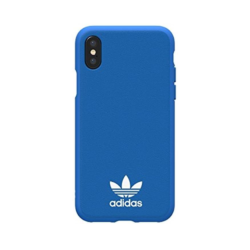 しわ多数のご予約【アディダス公式ライセンスショップ】アディダスオリジナルス iPhoneX/XSケース TPU ブルーバード/ホワイト [adidas Originals Moulded NEW BASICS iPX/XS-Bluebird/White]