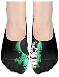 Maigcalの帽子のローカットソックスの滑り止めの運動靴下が付いている女性のカジュアルな頭蓋骨