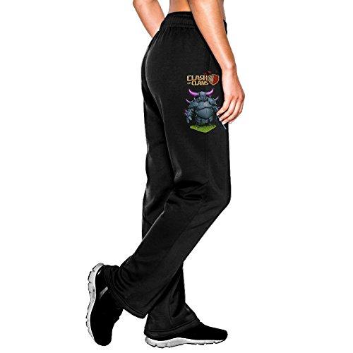ZMONO 大人 スウェットパンツ ソフト ゲーム クラッシュ オブ クラン キャラ 個性的な 着心地が良い ダンス パンツ Black Size XL
