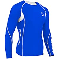 Deckra Mens Compression Shirt Base Layer Skin Fit Under Armour Top Long Sleeves, Yoga, Gym, Running Tights