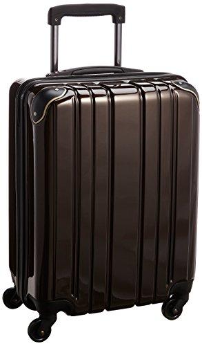 [ワイズリー] wise:ly 軽量スーツケース 機内持込最大サイズ 静音4輪キャスター 338-2100 02 (ブラウン)