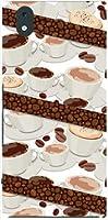 モノ [mo-01k] MONO [MO-01K] TPU ソフトケース コーヒーとコーヒー豆 docomo スマホケース ドコモ スマホカバー デザインケース