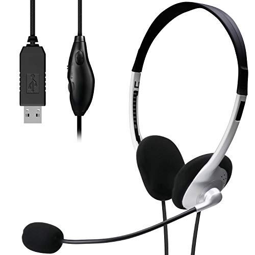 『エレコム ヘッドセット マイク USB 両耳 オーバーヘッド 1.8m シルバー HS-FBE01USV』のトップ画像