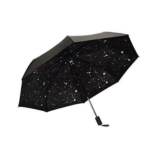 日傘 晴雨兼用 完全遮光 折り畳み傘 美しい星空 紫外線遮蔽 8本骨