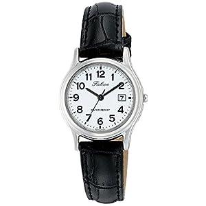 [シチズン キューアンドキュー]CITIZEN Q&Q 腕時計 Falcon ファルコン アナログ 革ベルト 日付 表示 ホワイト D015-304 レディース