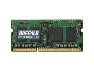 BUFFALO PC3L-12800対応 DDR3 SDRAM S.O.DIMM 4GB MV-D3N1600-L4G