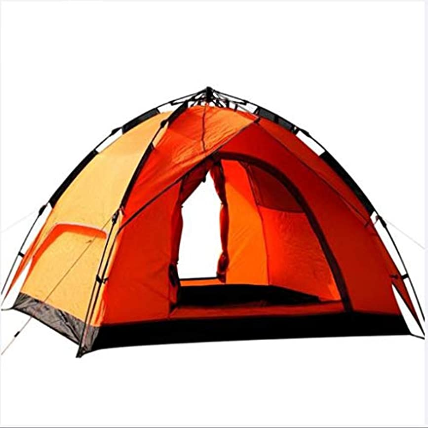 商標アンカー思いやりのある屋外のキャンプテント3?4人引きロープを無料で自動防風雨多人数キャンプのテントを構築する