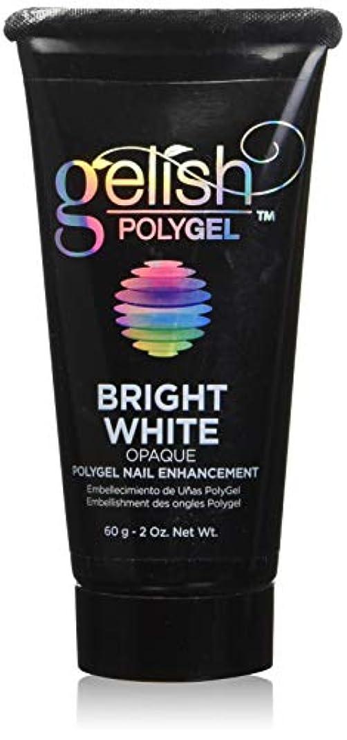 軽食死にかけている成熟Harmony Gelish Gel Polish - PolyGel - Bright White - 60g / 2oz