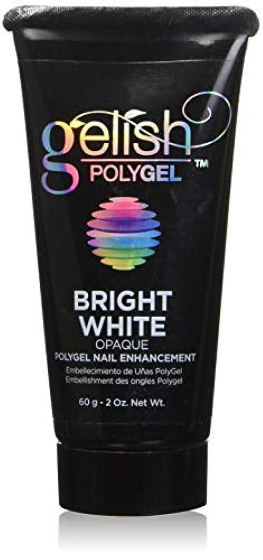公演ボイド航空便Harmony Gelish Gel Polish - PolyGel - Bright White - 60g / 2oz