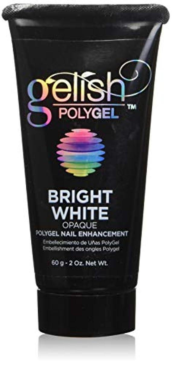 ドルホテル信じられないHarmony Gelish Gel Polish - PolyGel - Bright White - 60g / 2oz