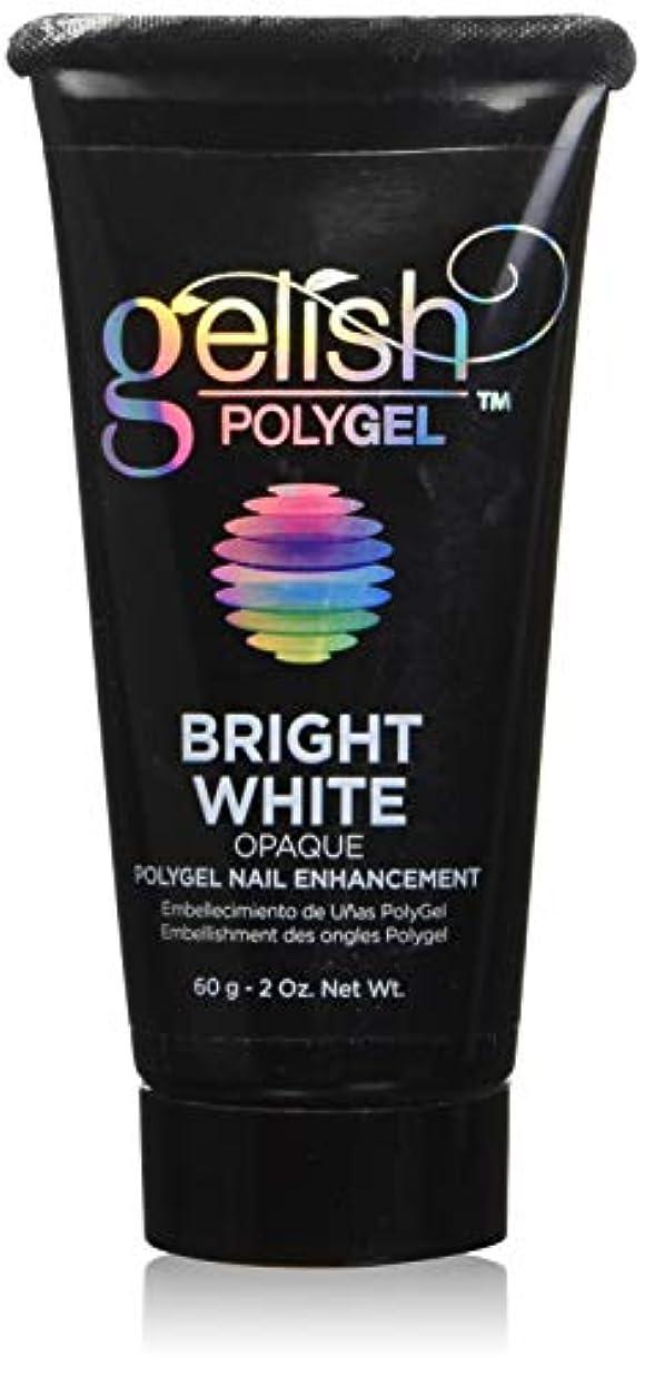 ケント突破口徒歩でHarmony Gelish Gel Polish - PolyGel - Bright White - 60g / 2oz