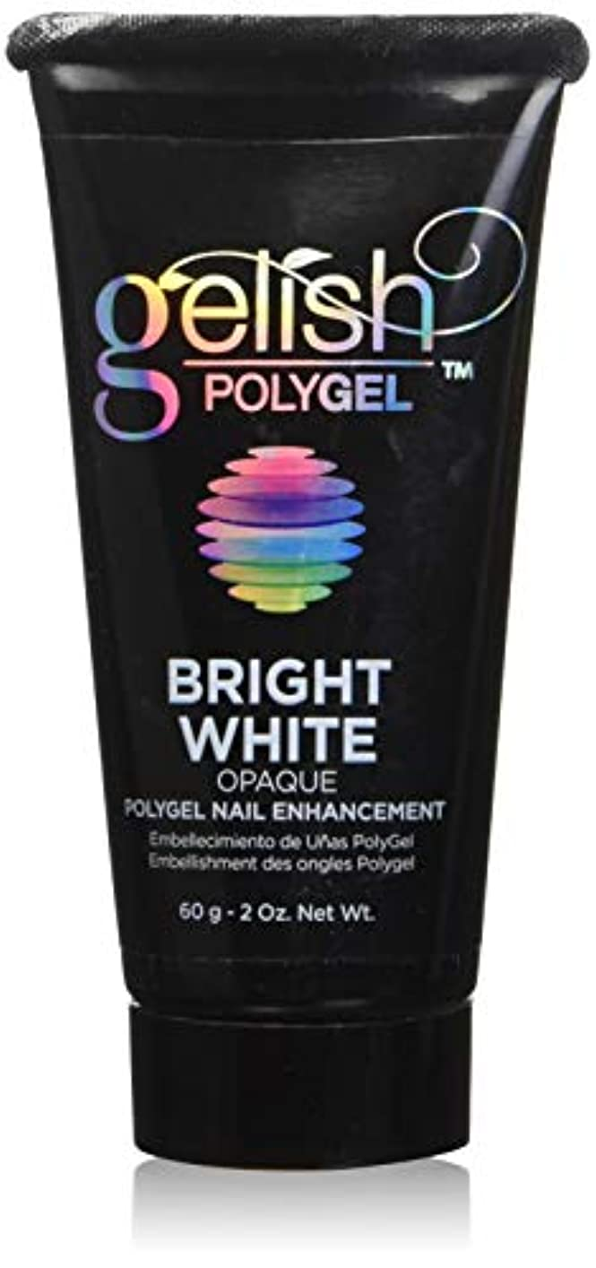 ラベル契約軽量Harmony Gelish Gel Polish - PolyGel - Bright White - 60g / 2oz