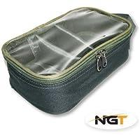 NGTユニセックスFla LEADBAG 007 3 Way」クリアトップデラックスリードバッグCarp / Coarse釣り、グリーン、18 x 12.5 X 8 cm by NGT