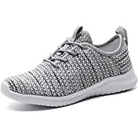 KONHILL Women's Tennis Walking Shoes - Lightweight Casual Athletic Sport Running Sneakers