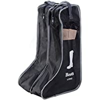 Lovelyクールパックの2ペアVisibleブーツオーガナイザー、ロングブーツバッグ、ロングブーツホルダー、Long Boot storges。 L:28x23.6x49.4cm ブラック