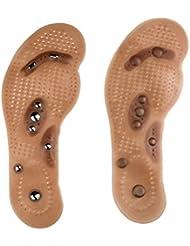HEALILYマッサージインソール磁気足指圧療法マッサージパッド足の痛みを軽減するサイズS(34-40)