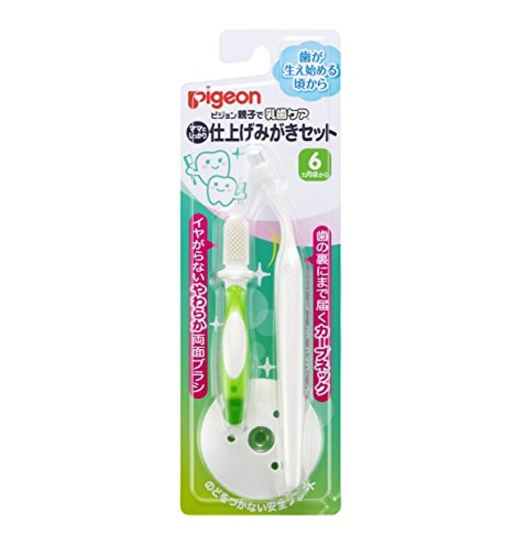 低い有効化お客様ピジョン 親子で乳歯ケア 仕上げみがきセット 歯が生え始める頃から