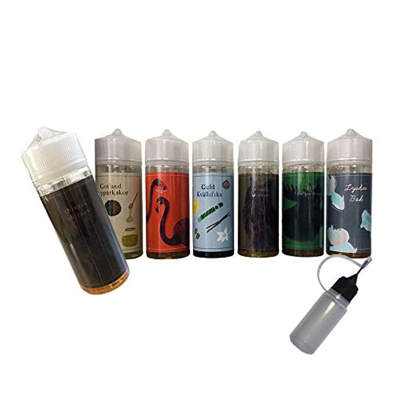 ゴミ洞察力のある飲み込む電子タバコ リキッド 国産 タール ニコチン0 BaksLiquidLab. (バクスリキッドラボ) 100ml ニードルボトルのおまけ付き (② Guld Kvällsfika)