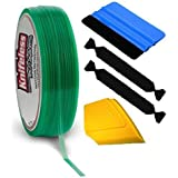 VViViD Knifeless Vinyl Wrap Cutting Tape Finishing Line 10M Plus 3M Toolkit (Blue Applicator Squeegee, Yellow Detailed Squeeg