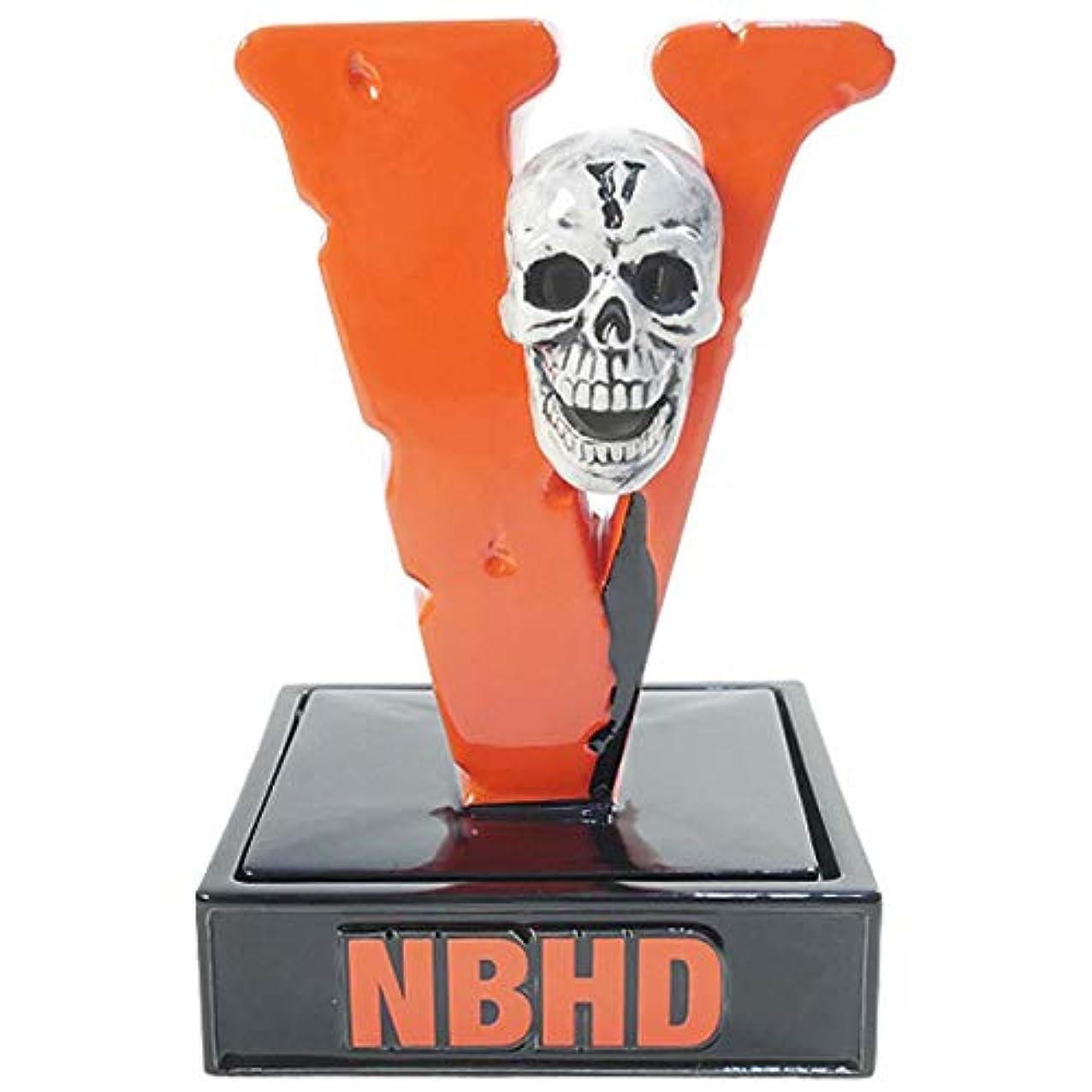 冷蔵庫激怒補正NEIGHBORHOOD ネイバーフッド ×VLONE ヴィローン 19SS BOOZE NHVL/CE-INCENSE CHAMBER お香立て オレンジ黒 フリー