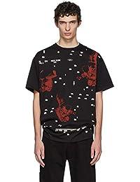 (ラフ シモンズ) Raf Simons メンズ トップス Tシャツ Black Regular Fit Astronaut T-Shirt [並行輸入品]