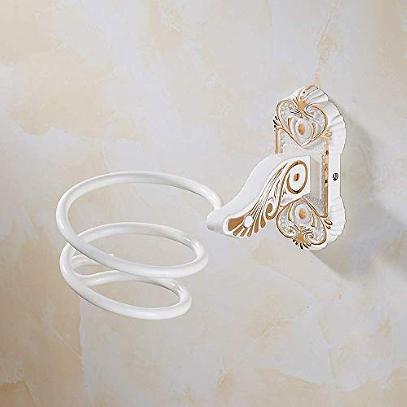 スクリーチ母補償DBCSDヨーロッパ彫刻ヘアドライヤーブラケット浴室ヘアドライヤー収納棚手描きのゴールドヘアドライヤーハンガースペースアルミバスルームヘアドライヤースパイラルスタンドフレーム