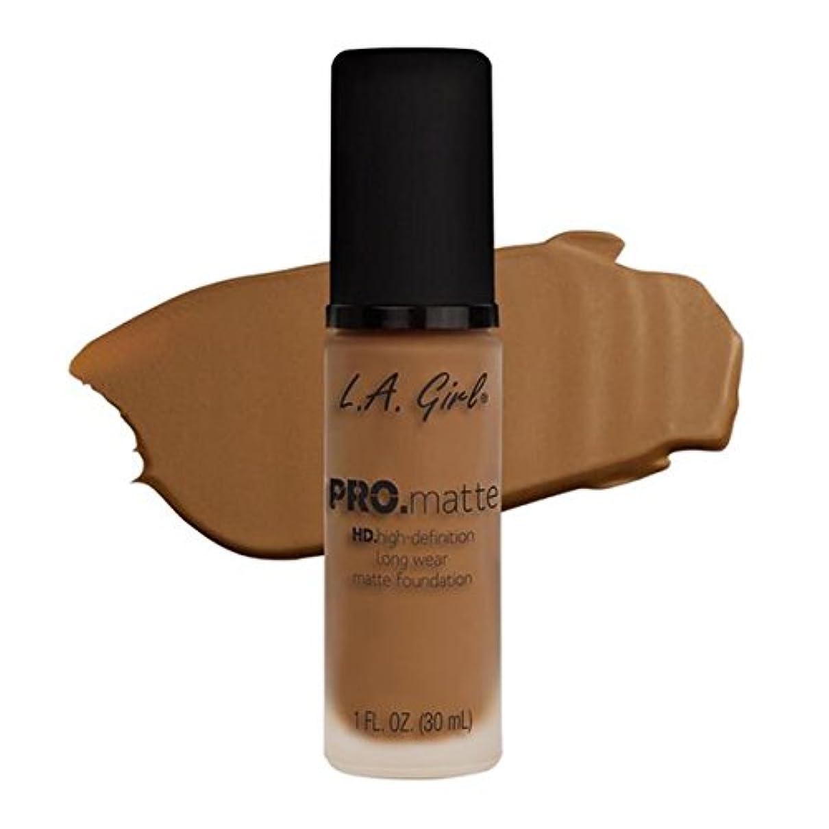 言い訳力めまいがLA Girl PRO.mattte HD.high-definition long wear matte foundation (GLM682 Cafe)