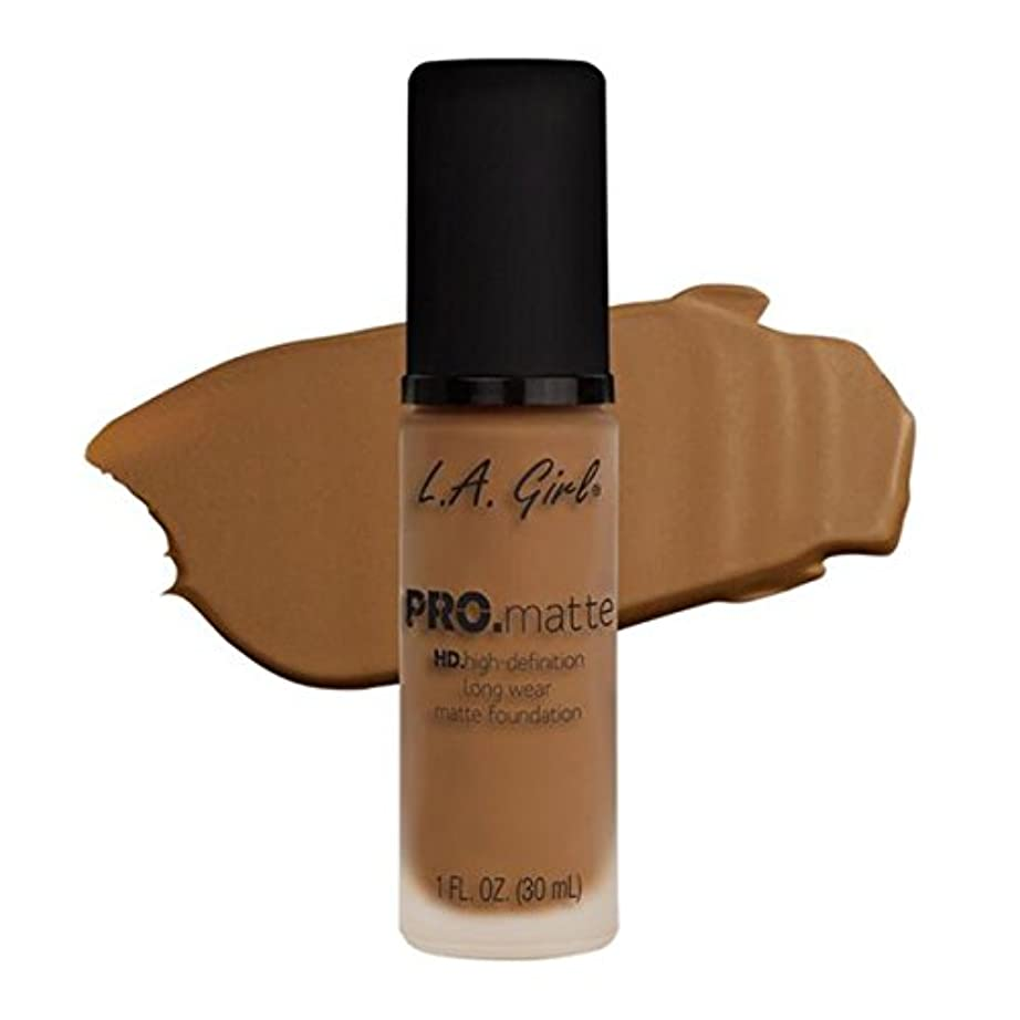 枯渇する合体ゲートウェイLA Girl PRO.mattte HD.high-definition long wear matte foundation (GLM682 Cafe)