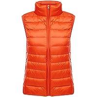 Yeokou Women's Slim Packable weight Quilted Short Puffer Down Vest Waistcoat