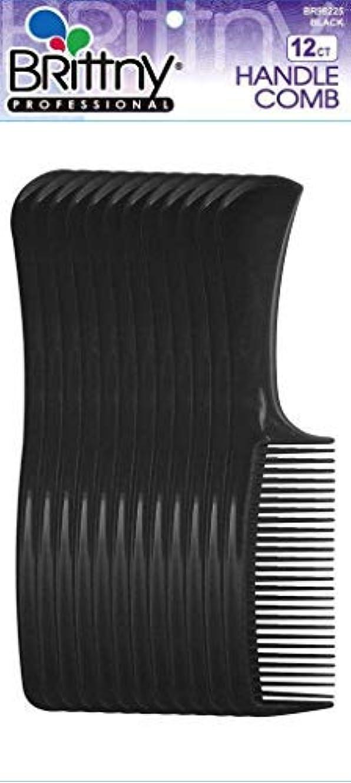 石化する銛安全なBrittny Bulk Handle Combs - Black 12-Count (Pack of 6) [並行輸入品]