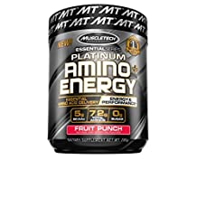 Muscletech Essential Series Platinum Amino Energy, Fruit Punch, 295 Gram