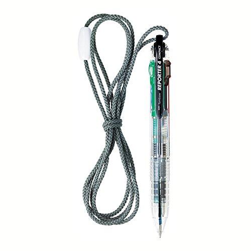 トンボ鉛筆 4色ボールペン リポーター4 コンパクト ストラップ付 BC-FSRCV20 透明