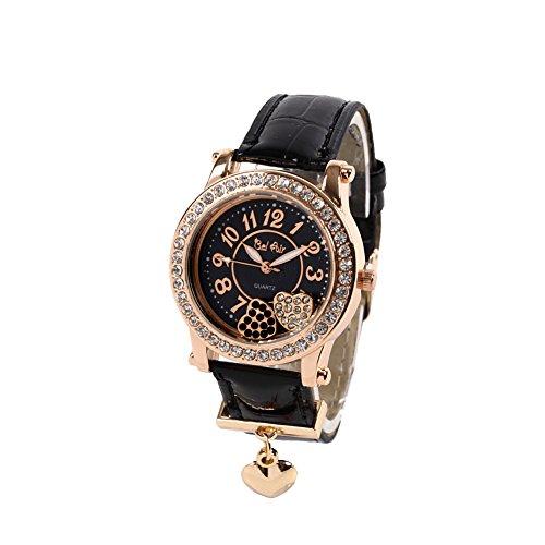 AC-W-JH5 ムーブクリスタル腕時計 レディース腕時計 Bel Air collection[ベルエアコレクション] ピンクゴールド×ブラック