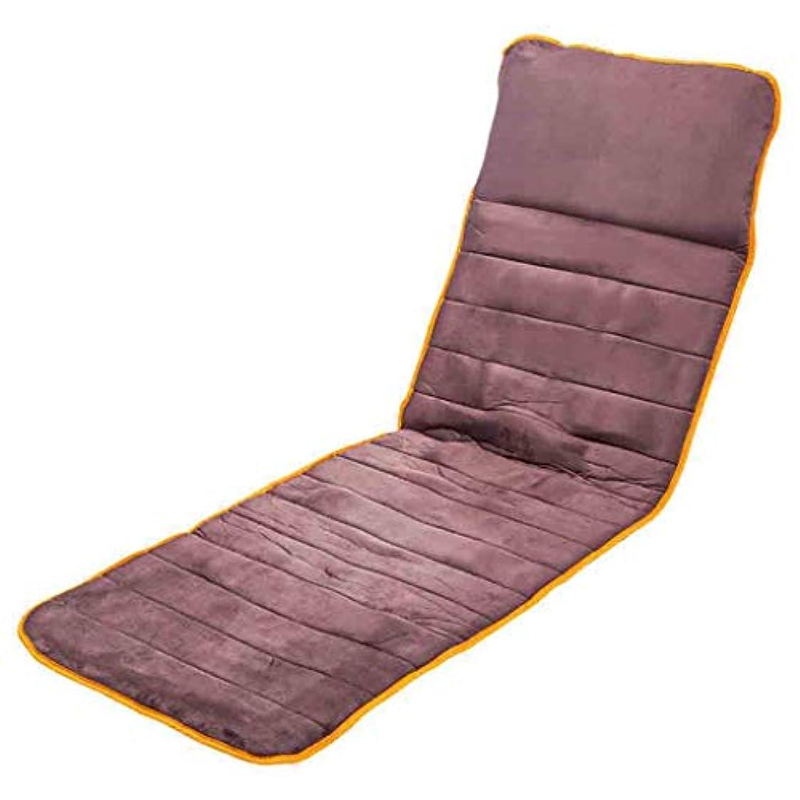 ヘアネット優先フルボディマッサージマットレスでなだめるような熱療法多機能指圧振動折りたたみ式電動マッサージマットウェルネス&リラクゼーション腰痛脚の痛みを軽減,Brown,172cmx59cm