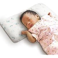 バンビノ ベビー まくら (赤ちゃん 絶壁頭 斜頭 寝返り 防止) オーガニックコットン 向き癖 矯正 枕 改良版(2ヶ月?3歳向け)