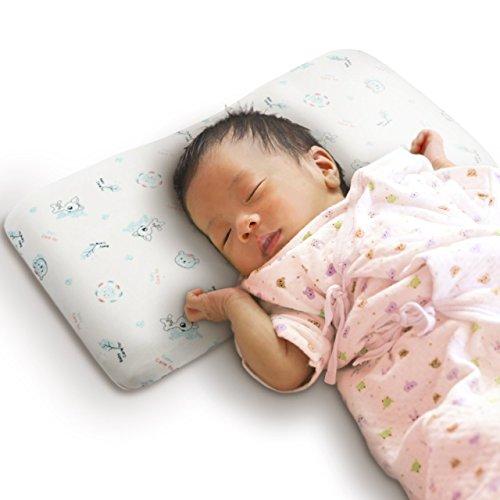 バンビノ ベビー まくら (赤ちゃん 絶壁頭 斜頭 寝返り 防止) オーガニックコットン 向き癖 矯正 枕 改良版...