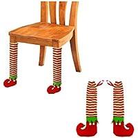 bettalのペアクリスマステーブル脚カバーパーティー祭デコレーションクリスマスギフト レッド