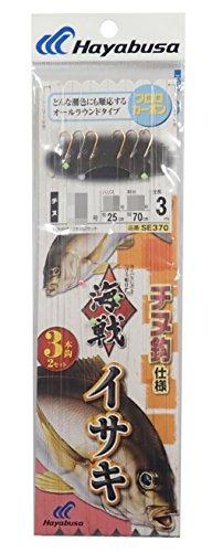 ハヤブサ(Hayabusa) SE370 海戦イサキ チヌ針 3本針2セット   2-1.75