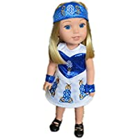 My Brittany's Blue Irish Dance Outfit for Wellie Wisher Dolls