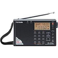 TECSUN PL-310ET (日本語版取扱説明書)ラジオ FM ステレオ/MW/LW/SW ワールドバンド PLL DSP ラジオ (ブラック) (Black)