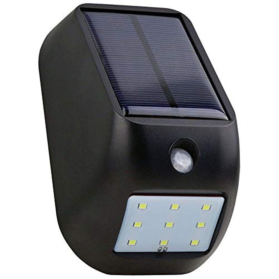 果てしない耐えられない思われる屋外のソーラーライト、9LEDマウスライト、人体の赤外線センサーライト、屋内および屋外の照明、街路灯-black