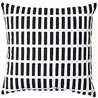 安心の国内縫製 Artek(アルテック) クッションカバー 45×45cm SIENA(シエナ) ブラック